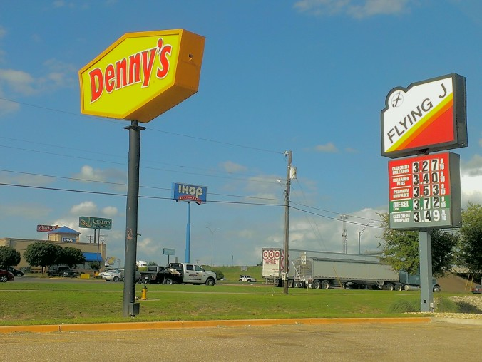 on a journey past truck stops, drive-thru's, and fake food I'm heading to San Antonio, TX
