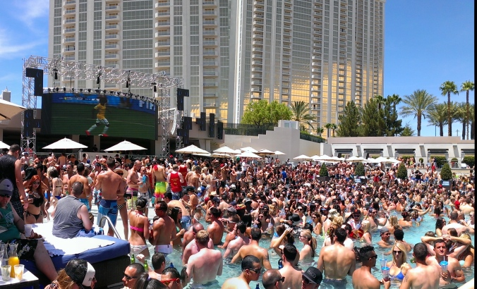 Wet Republic with Tiesto...and the World Cup on the Jumbo Tron